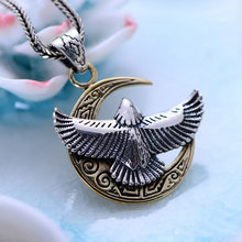 925 Sterling Silver Pendant for Women Men Jewelry Hight Quality Thai S925 Solid Silver Fine Jewelry Moon Eagle Pendants
