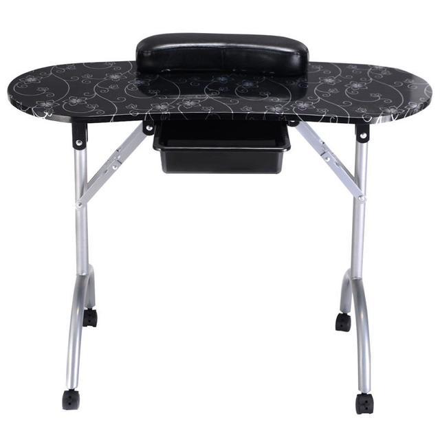 Portable Manicure Nail Table Station Desk Spa Beauty Salon Equipment ...