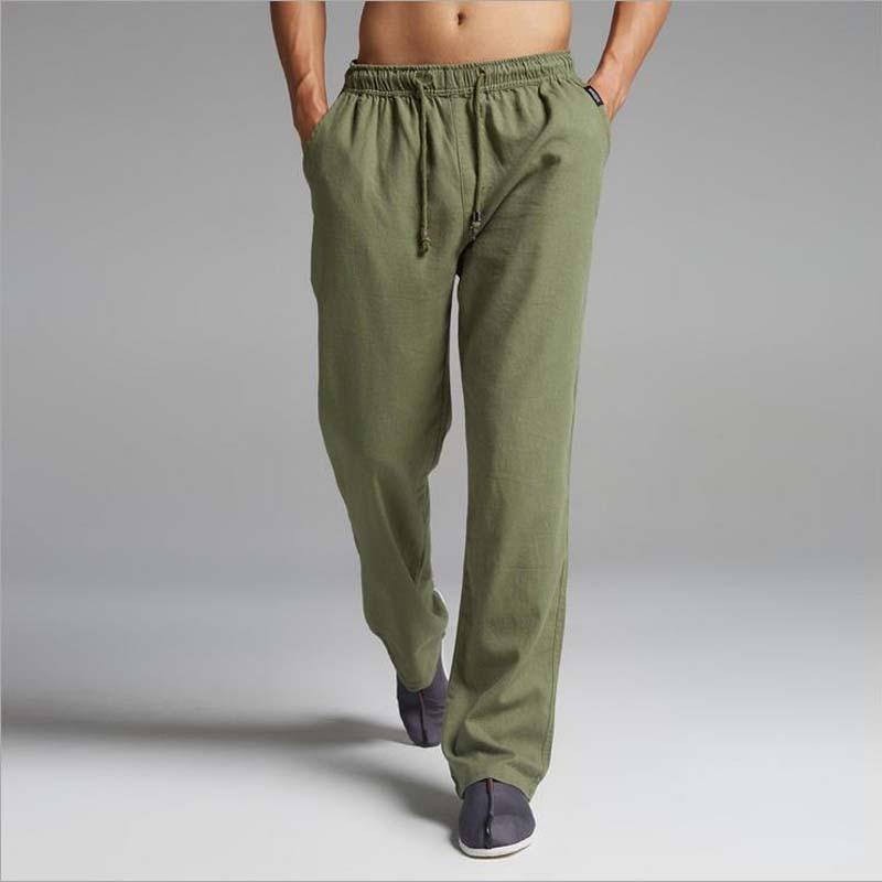 Pantalones de lino Pantalones Para Hombre 2017 Verano