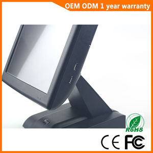 Image 5 - 15 inch with Customer display Touch Screen POS System Electronic Gas Station Cash Register Machine