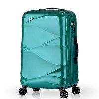 Stylish rolling luggage,PC Trolley case,Hard shell luggage,Universal wheel Trunk,20 inch Boarding Box,Password suitcase,valise