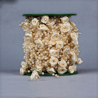 Darmowa Wysyłka 30 M Piękne Plastikowe Rąk Rose Koraliki akcesoria do dekoracji Ślubnych Panny Młodej Bukiet Sztuczny Kwiat