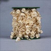 O Envio gratuito de 30 M de Plástico Bela Mão Subiu Contas acessórios para a decoração Do Casamento Flor Artificial Noiva Bouquet