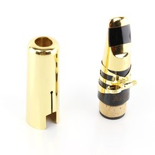 High Quality Metal Clarinet Mouthpiece For B-flat Clarinet Surface Gold Plated Musical Instruments Accessories Size 7