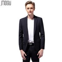 MOGU Two Piece Slim Fit Solid Men's Suits 2017 New Fashion Pure Color Formal Suits For Men High Quality Asian Size 4XL Men Suits
