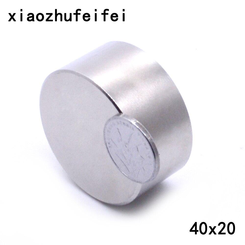 Il trasporto libero 1 PZ Magnete 40mm x 20mm 40x20mm Rotonda Cilindro Neodimio Magneti Permanenti 40*20mm NUOVO di Arte Del Mestiere di Connessione