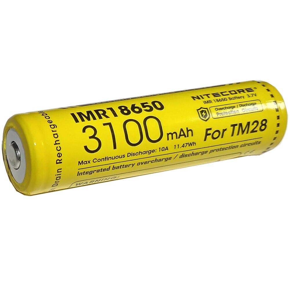NITECORE-3100-mAh-IMR18650-10A-3-6-V-Li-ion-Protegido-Recargable-de-Alta-Performace-para
