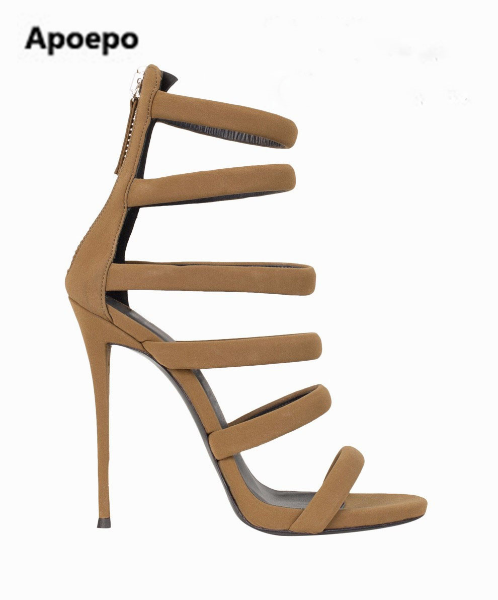 Hot selling high quality suede sandal sexy open toe cutouts gladiator sandal 2017 summer high heel sandal for woman blue hot selling black leather sandal high heel summer open toe chains decorations gladiator sandal woman cutouts thin heels shoes