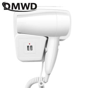 DMWD фен для волос с горячим/холодным ветром, Электрический настенный фен для ванной комнаты, сушилки для сушки кожи, подвесные воздуходувки с...