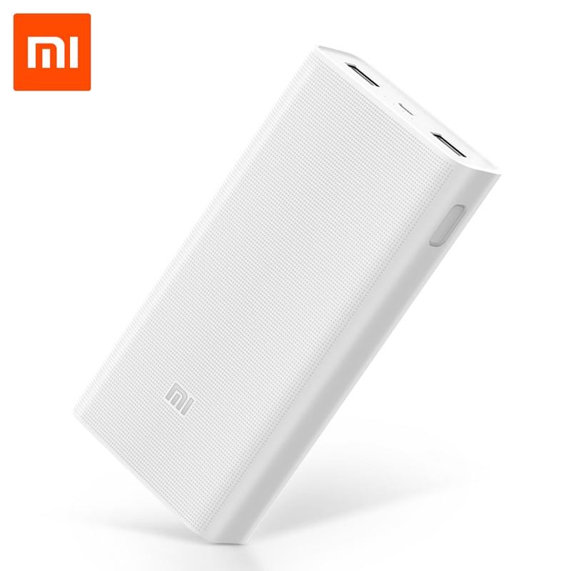 Цена за 20000 мАч Mi Power Bank V2 Поддержка двусторонней Быстрая Зарядка QC3.0 для Мобильных Телефонов с двойным USB выходом