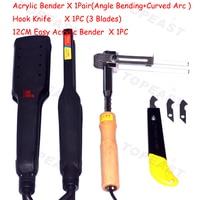 One Set AC 110v 220v Arc Shape Bending Tool Acrylic Letter Angle Heat Bender Tool Right