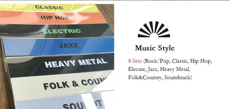 Жанровый записной Органайзер с разделителями таб акриловые карты для проигрывателя хранения записных альбомов Организации