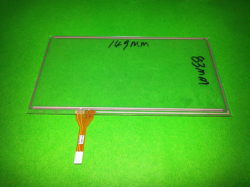 Skylarpu New 6.1 inch 4 wire Resistive Touch Screen 149mm*83mm for A061VW01 V0 digitizer panel glass 149*83mm Free shiipping