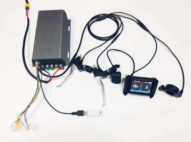 Display TFT 36 v-72 v 200a 14KW bicicleta elétrica do motor controlador de onda senoidal sistema Bluetooth Adaptador Incluído