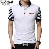 England Summer New Short Sleeved T Shirt Male Lapel Korean Version Business Casual Men S T