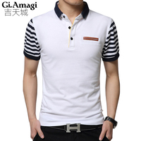 England Summer New Short Sleeved T Shirt Male Lapel Korean Version Business Casual Men S T