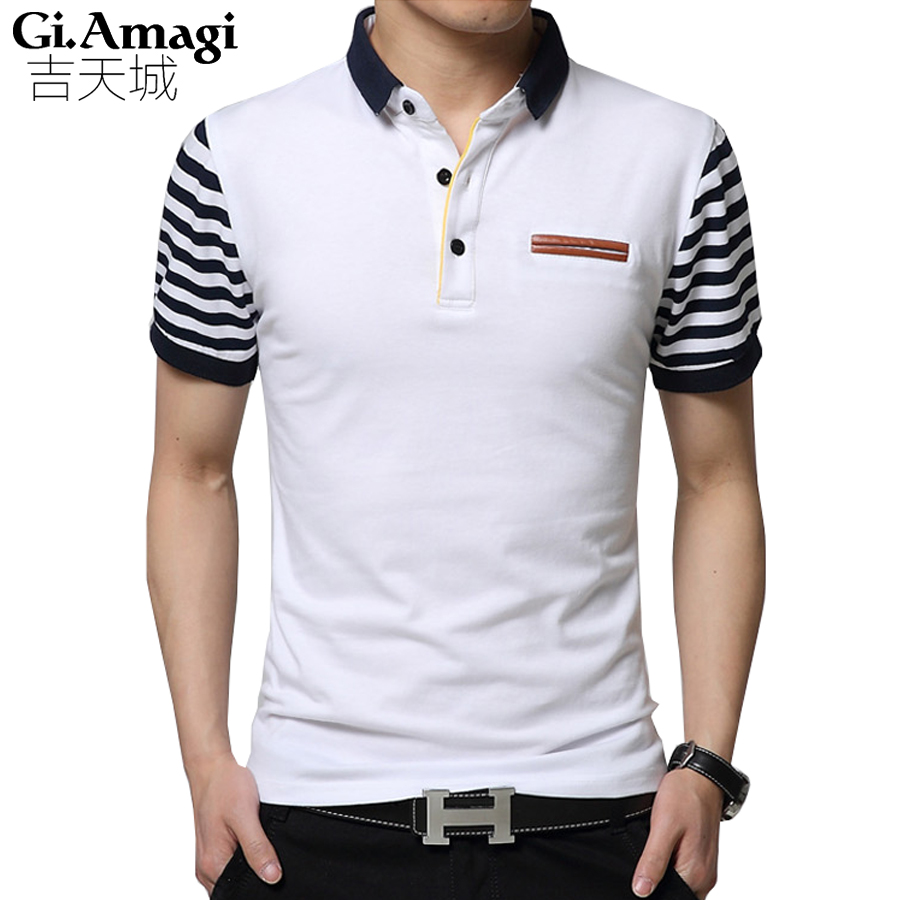 England Summer New Short-sleeved T-shirt Male Lapel Korean Version Business Casual Mens T Shirt Tide Big Size 5xl Mens Tshirts