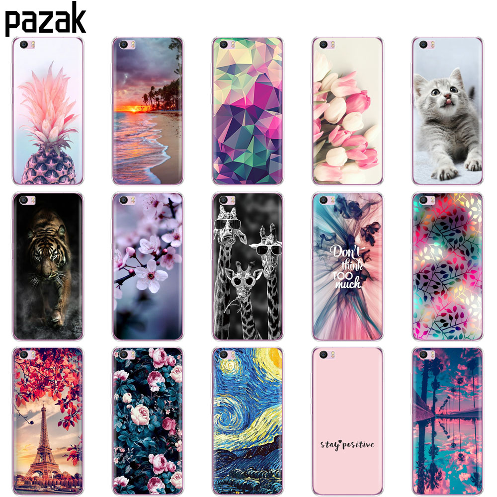 Case For Xiaomi Mi5 Mi 5 M5 Case Coque Soft TPU Silicon Cover On For Xiaomi Mi5 Mi 5 M5 Copas Bumper Skin Shockproof Fundas Cute