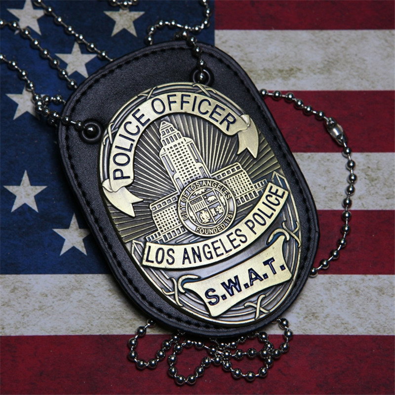 New 1pcs LA Police SWAT Officer Badges Card ID Cards Holder 1:1 Gift Cosplay Collectionn On Sale 2 Types