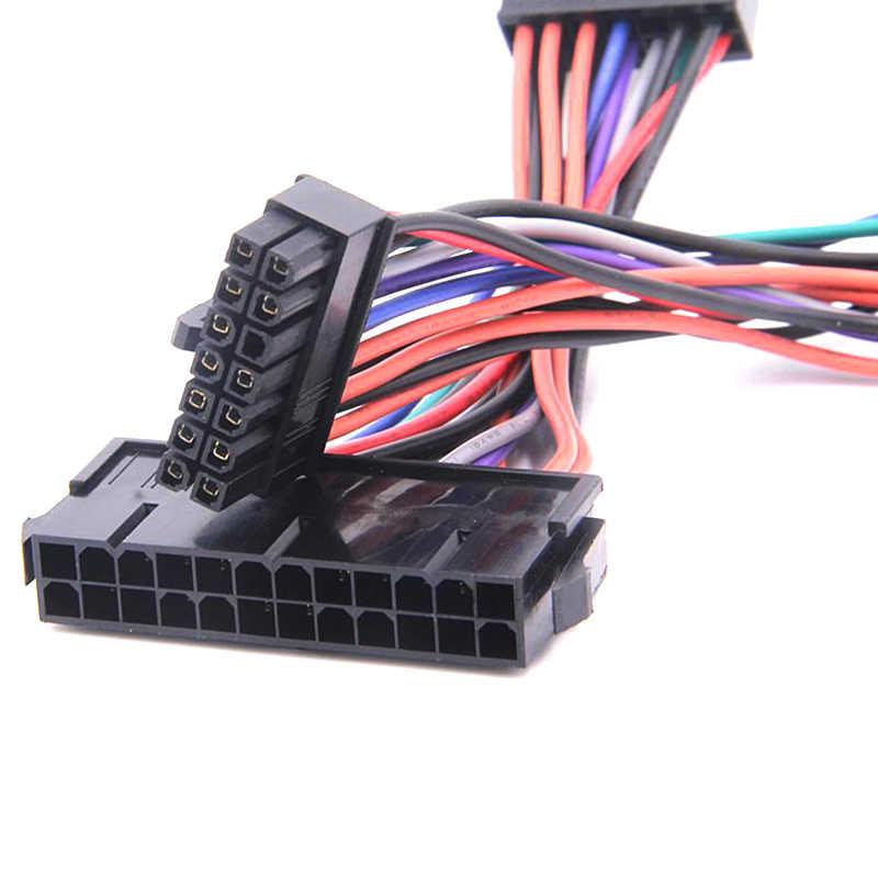 Atx 24pin para 14pin adaptador cabo de alimentação para lenovo para ibm q77 b75 a75 q75 placa-mãe 18awg cabo de alimentação