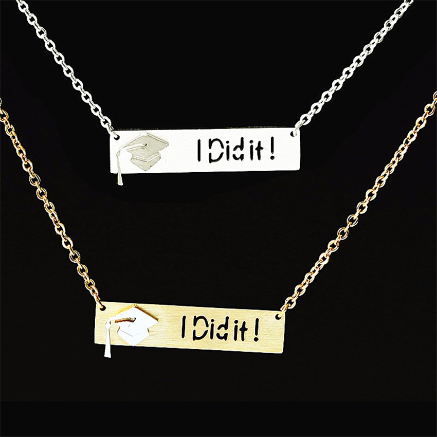 "HTB1eAoHPXXXXXXgXXXXq6xXFXXXw - Graduation ""I Did It"" Pendant with Slim Chain"