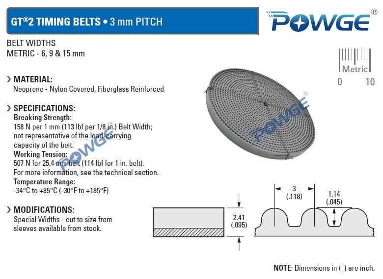 powge 3gt open timing belt 3gt 15 width 15mm pitch 3mm rubber gt3 rh aliexpress com 1/5 pitch timing belt pulley 5mm pitch timing belt pulley