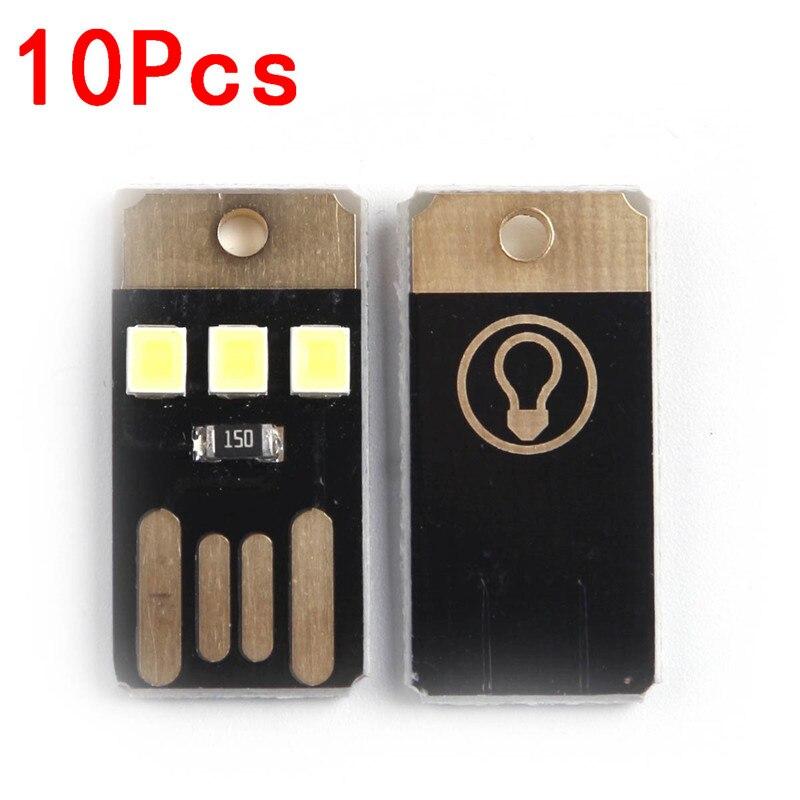 10Pcs Plastic Lamp White Warm Night Lights LED Bulb Non-Dimmable Camping Led Light Bar Strip Lighting 0.2 W, Ultra Low Power