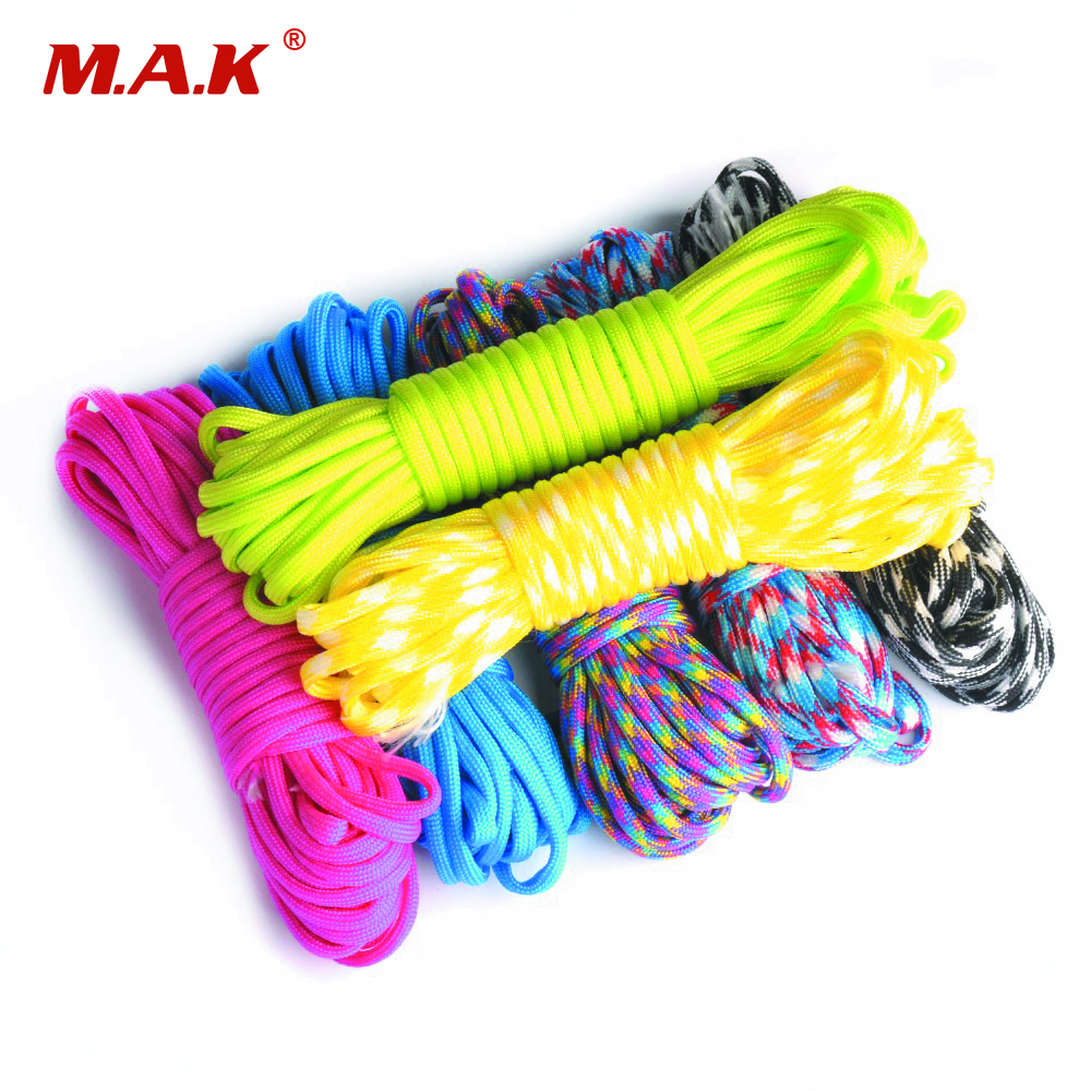 Paracord 550 Parachute Cord Lanyard Rope Diameter 4mm Mil Spec Type III 7 Stand Climbing Camping Survival Rope hot sale 10ft reflective 550 paracord rope type iii 7 strand light reflecting for survival parachute cord bracelets paracord