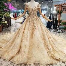 AIJINGYU חתונה Aliexpress להתגבר סביר עם שרוולי אני פשוט שמלות לכלה אהבה מדהים כלה שמלות
