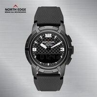 North Edge Watch Smart Watches Outdoor Sport 50M Waterproof Clock Compass Altimeter Relogio Masculino MOUNT Dual Time Men Watch