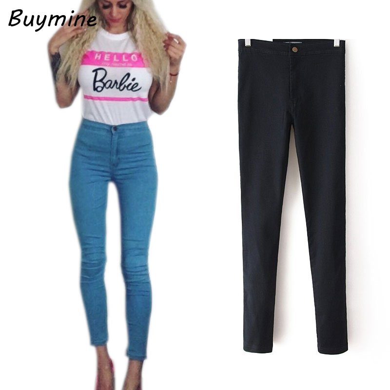 Blue Jeans Woman 2017 Stretchy Well Skinny Jeans With High Waist Pants Soft Slim Sexy Denim Jeans For Women Basic Boots Pants BY