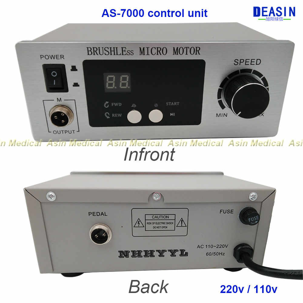 2016 new 70,000 RPM Non-Carbon Brushless NEW Aluminium Shell Dental Micromotor control unit only