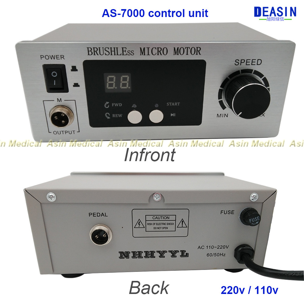 2016 new 70,000 RPM Non Carbon Brushless NEW Aluminium Shell Dental Micromotor control unit only