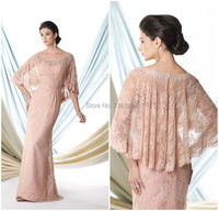 Hot 2019 Elegant Mermaid cape like sleeves hand beaded wrap Mother of the Bride Dresses the mother of the groom with Jacket