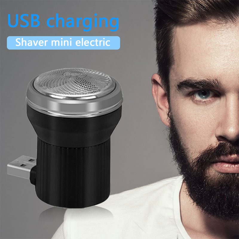 Men Fashion Portable Shaver Electric Shavers Professional with Cleaning Brush Travel Three Blade Personal Care Trimmer