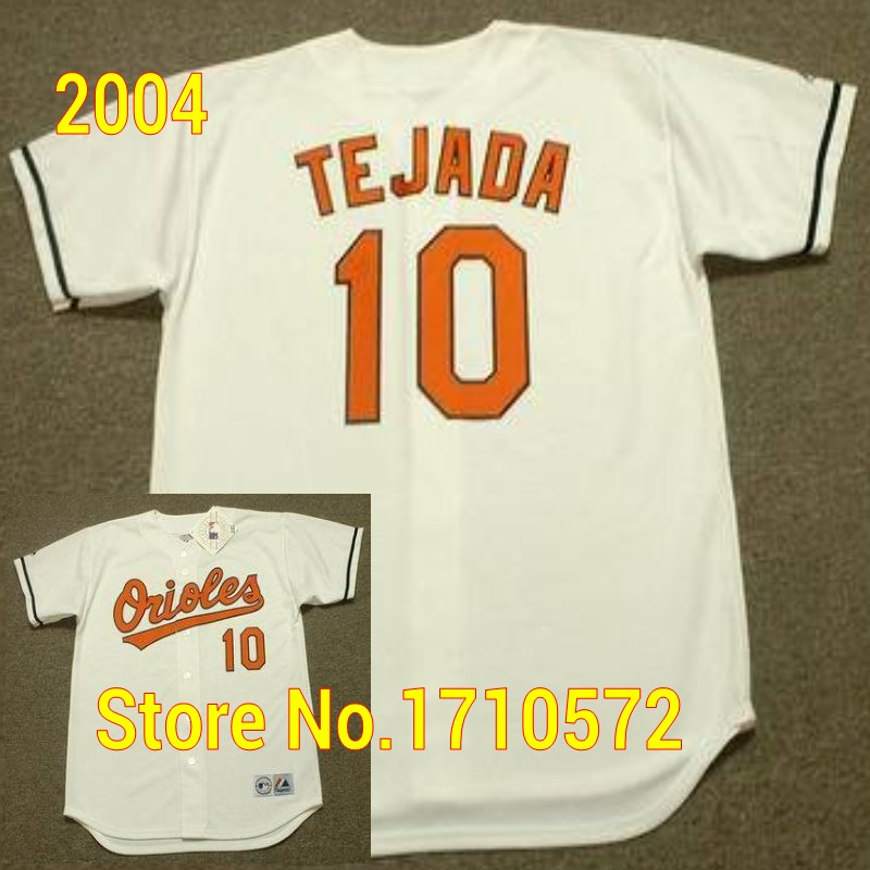 2005 Men s Baltimore Orioles Retro Shirts 10 MIGUEL TEJADA 14 JOSE BAUTISTA  21 SAMMY SOSA 2004 Home Throwback Baseball Jerseys-in Baseball Jerseys from  ... 737ace545