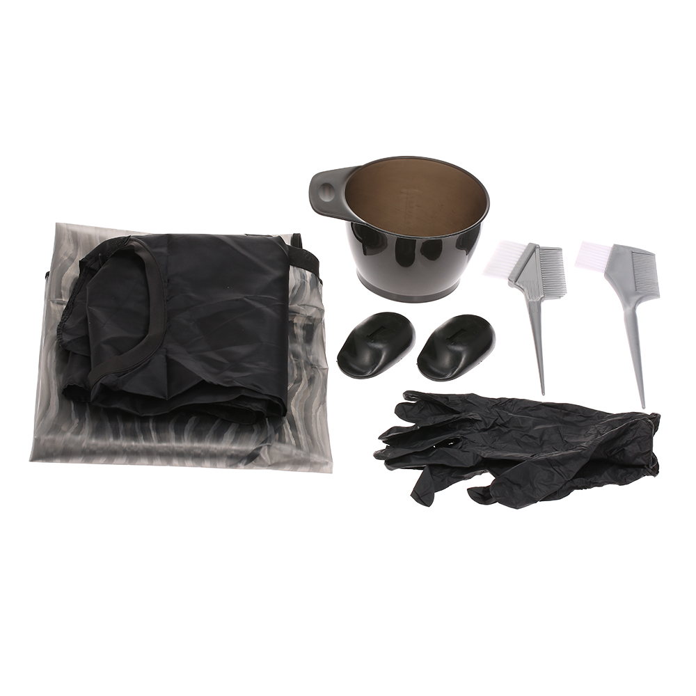 Professional Hair Coloring Kit Hairdressing Coloring Tool With Dyeing Tinting Bowl Brush Salon Apron Ear Cover Gloves