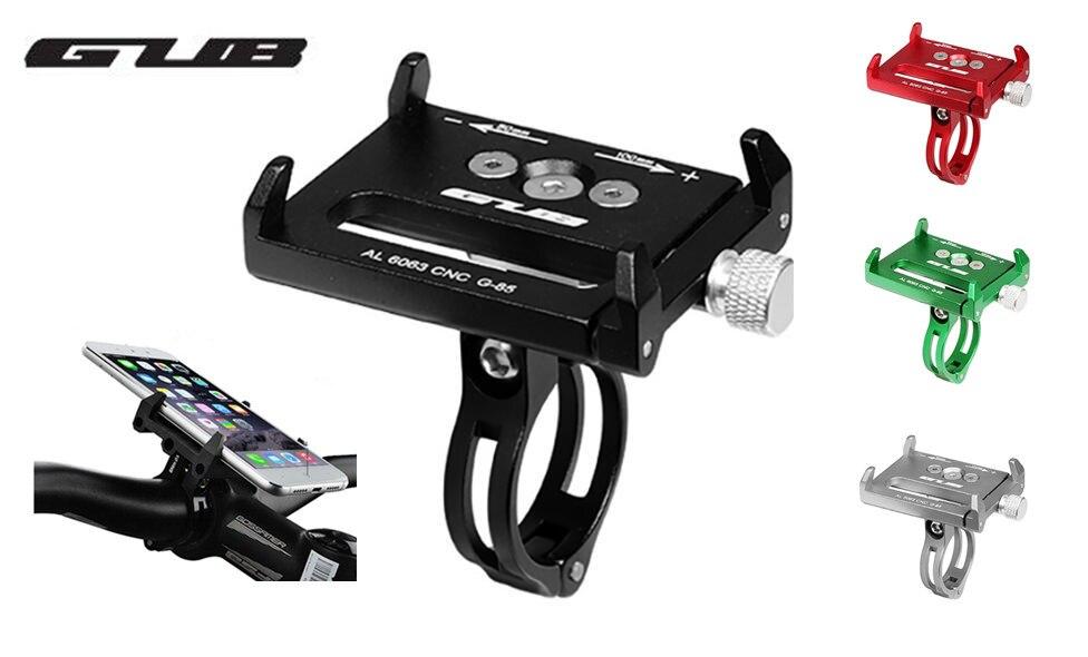 GUB G85 G-85 En Aluminium vtt Vélo support de téléphone de vélos moto support gps pour vélo guidon vélo accessoires 4 couleurs