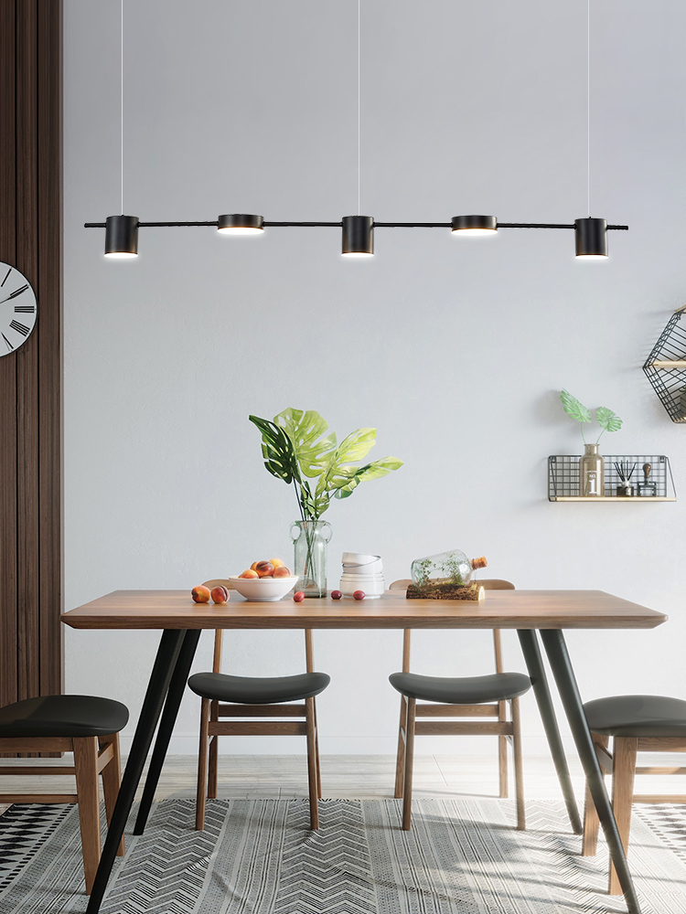 cheapest Modern minimalist restaurant pendant lamp strip minimalist bar table dining room creative long shape pendant lights