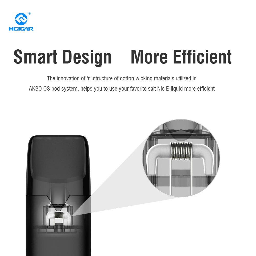 Original HCIGAR AKSO OS Kit With 420mAh Vape Pen Electronic Cigarette Built-in Battery 1.4ml Capacity Refillable Pod Starter Kit