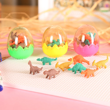 1 Egg Dinosaur Shape Eraser School And Office Supplies Erasers Lovely Drawing Correction Tool Kawaii Stationery
