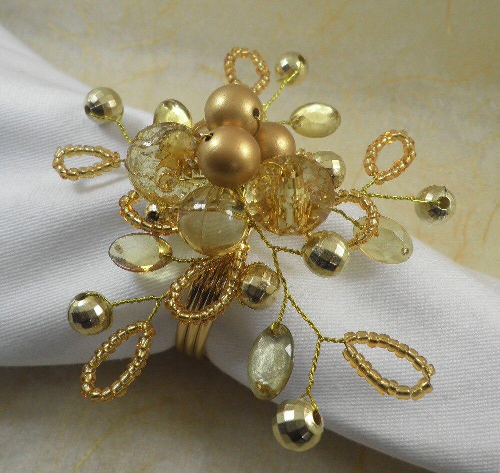 Acrylic Beaded Wedding Napkin Ring Crystal Napkin Holder