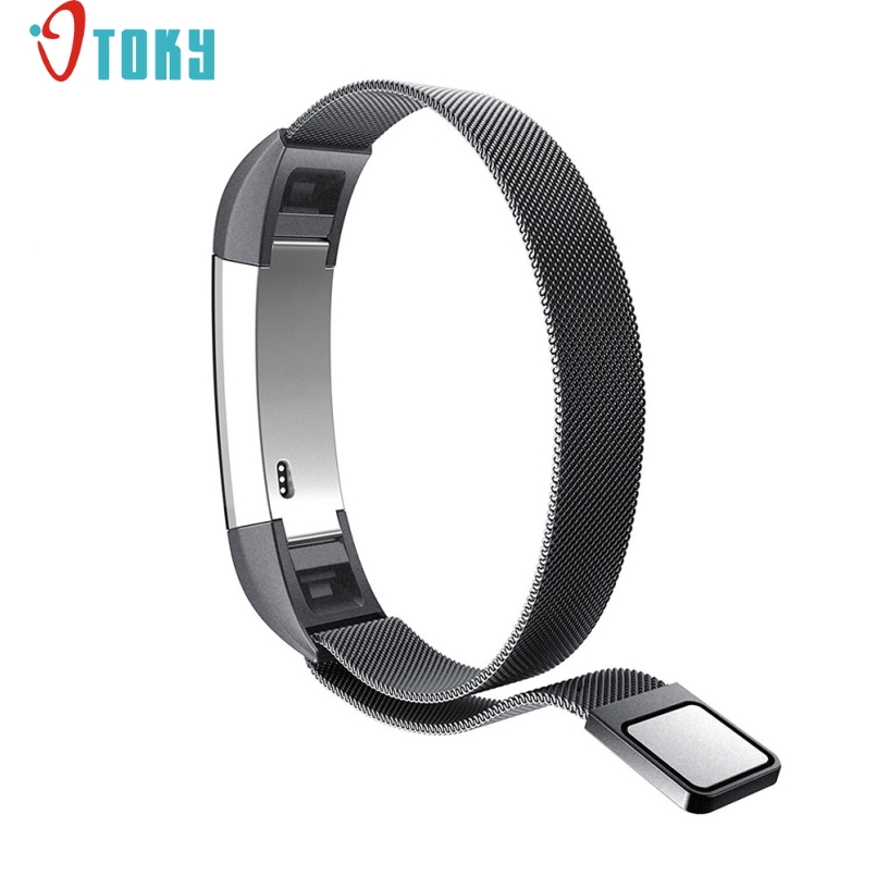 Excellent Quality 12mm Watch Band Strap Replacement Milanese Magnetic Loop Stainless Steel Band For Fitbit Alta Smart Watch 27