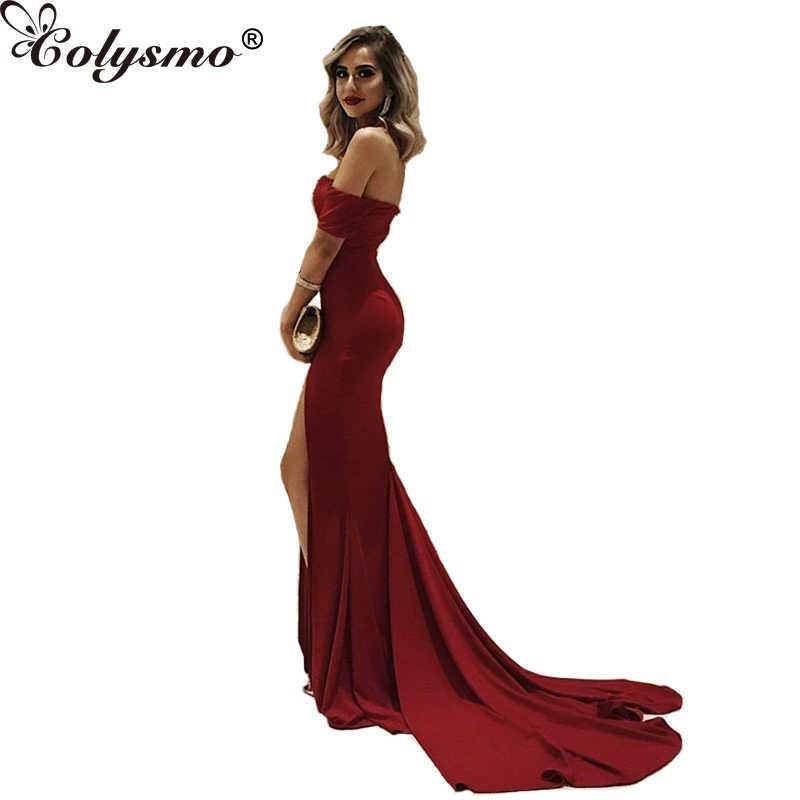 f375b860ac Colysmo Summer Dress Women 2018 Long Vestido Elegant Female Sexy Dress  Strapless Floor-Length Dresses Party Dress New