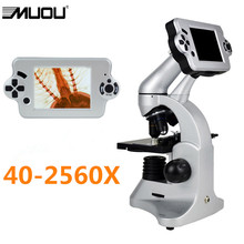 Cheap price MUOU USB Digital Biological Microscope metal with LED LCD screen can be connected with the computer Free shipping!