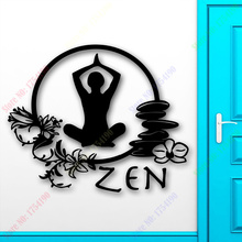 Yoga Wall Sticker Zen Meditation Yoga font b Health b font Mantra Enlightenment Girl Wall Sticker