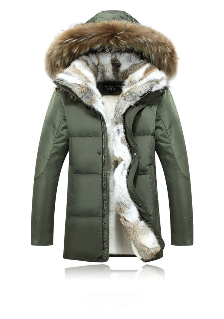 Winter Down Jacket Men Fur Parka Fashion Casual Thicken Warm Fur collar Hooded Men Women jacket&coat couple Down Jacket S-5XL (32)