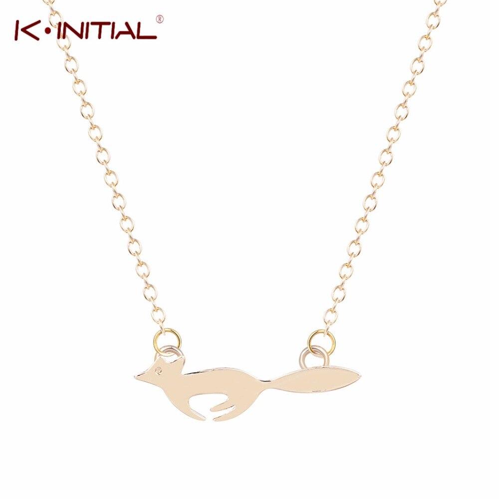 1pcs Free Shipping Fashion Silver Thin Chain Running Fox Necklace Women 18K Gold Charm Necklace  for Girl GIFT herramientas para el aseo de la casa