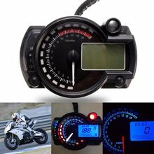 Motorcycle Digital Speedometer 12V Multifunction LCD Meter Universal Modified 7 Color Display Tachometer Odometer