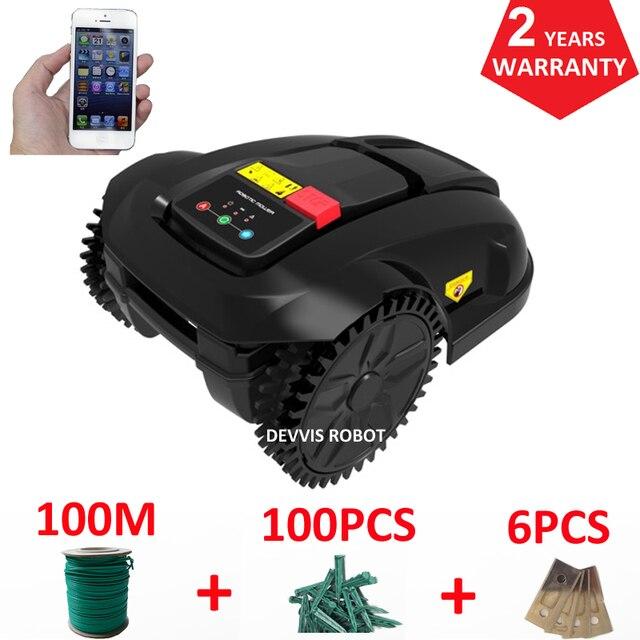 Cheapest Robot Lawn Mower Grass Cutter E1800S Garden Mowing Robot With 2.2AH Li-ion Battery, Water-proofed charger 2